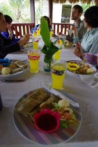 Lunch at Mayan village
